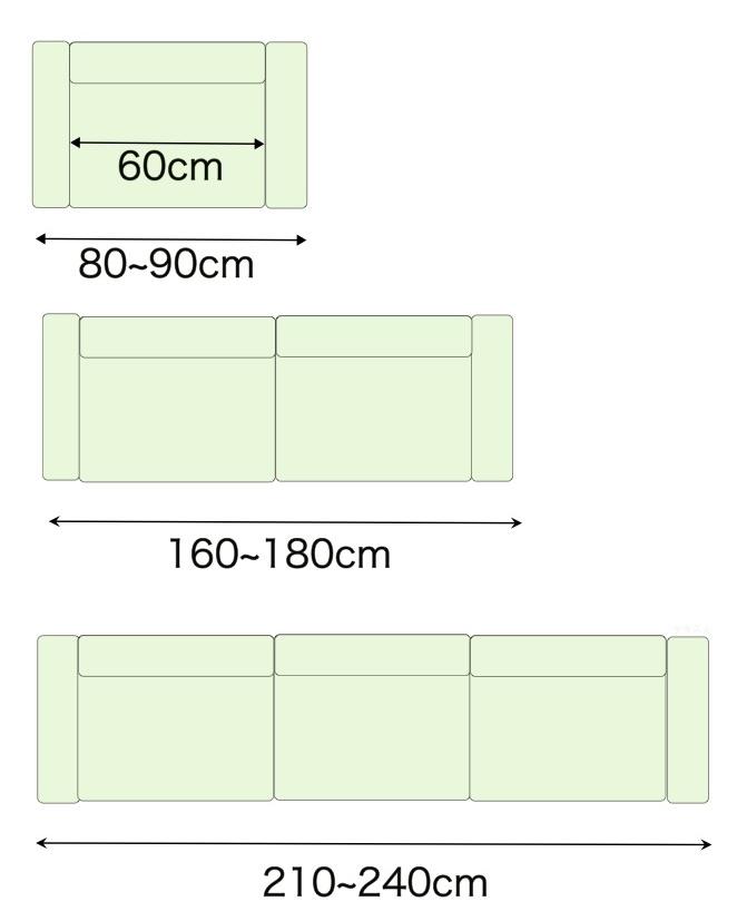 ソファのサイズ